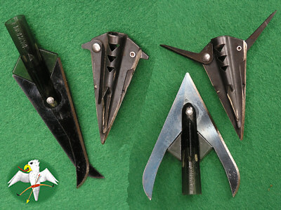 examples for early mechanical Broadheads   © Falk 2007