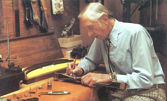 Fred Bear signing the special Edition Kodiak T/D   © Dick Lattimer